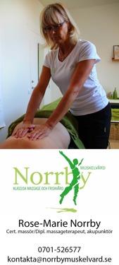 Norrby Muskelvård i Halmstad  erbjuder presentkort på behandlingar tex. Acu Nova akupunktur, klassisk massage, koppning, behandlingar