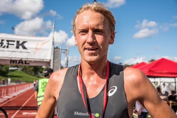 David Nilsson, Högby IF, vinnare Skördeloppet 10km. Foto: Christer Schapiro, Redhorse Photo