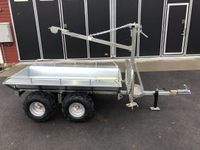 Timmerv ATV med flak, kran & winch - ATV timmervagn