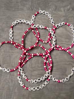 Armband, små pärlor - Cerise/Rosa