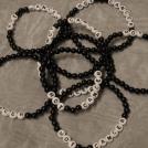 Armband, stora pärlor - svart