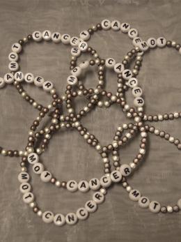 Armband, små pärlor - Brun/vit