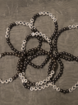 Armband, stora pärlor - Nougat