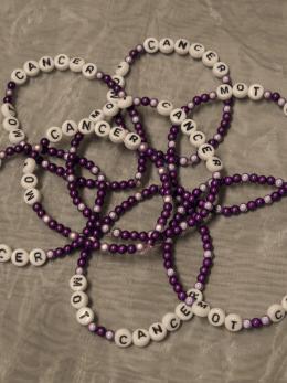 Armband, små pärlor - Lila/Ljuslila