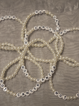 Armband, stora pärlor - vit