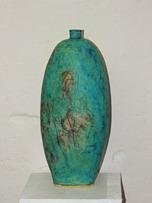 Turkos keramikurna eller vas