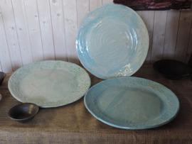 "Keramikfat ""Provence"" olika turkosa nyanser"