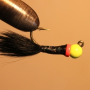 Isfiskejigg Black/yellowhead