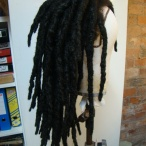 Afrohair dread wig real hair for Wigs Up North/Manchester