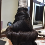 Creative hair testpiece