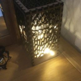 A lamp thats been lasercut