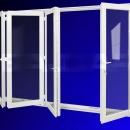 Vikdörrar i PVC 1