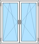 inåtgående 2-luftfönster