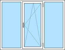 3-luftfönster: fast + öppningsbart + fast