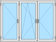 öppningsbart 3-luftfönster