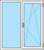 Fast + öppnignsbart fönster