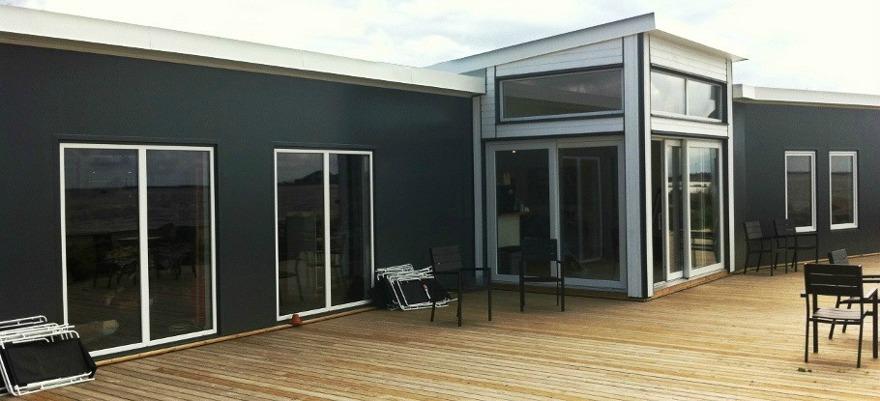 PVC-fönster monterade på Söderpiren i Halmstad