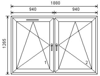 2-luftfönster 19x13 med ventil