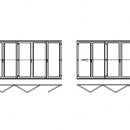 Vikdörrar i PVC 11