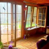 Spröjsade fönster hos kund 2