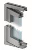 Vikdörrar i aluminium, genomskärning