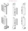 Vikdörrar i aluminium, gångjärn
