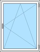 Sido/underhängt aluminiumfönster som öppnas inåt