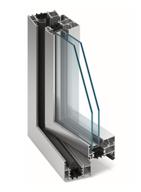 Aluminiumfönster i genomskärning