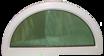 Fast halvmånefönster 1000x500mm (3-glas)