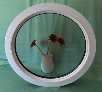 Runt fast fönster, klarglas 800mm (3-glas)