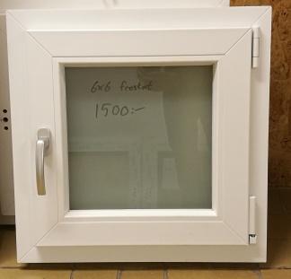 Sido/underhängt fönster, frostat 6x16