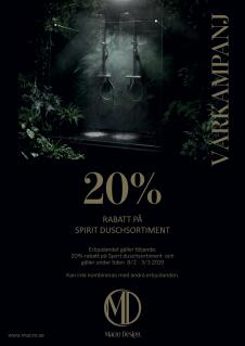 Macro kampanj 20% på Spitit duschsortiment