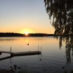 Efter en dags utbildning och kvällsaktivitet var det skönt att somna gott på Sjöstugan Camping, med denna ljuvliga solnedgång.