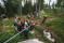 Deltagarna fick bland annat testa på zipline.