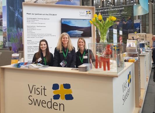 VisitSweden i Tyskland samordnar alla destinationerna inom den svenska montern på ITB Berlin