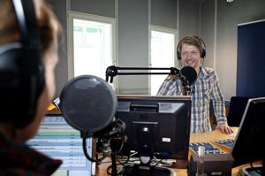 Denna bilden tog jag vid ett tidigare tillfälle på Radio Halland i Halmstad.