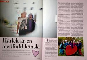 Fotograferat barn i Halmstad, temat Kärlek