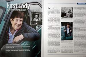 Fotograferade en kvinna utanför Halmstad som är bilskollärare