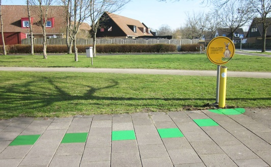Nudge concept, ground paintings and cute nicotine rabbit sign