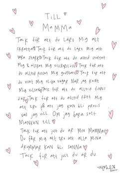 Till Mamma - Till Mamma A4