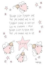 Personlig blinka lilla stjärna- Rosa