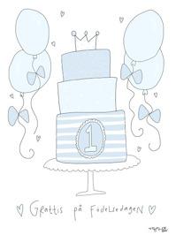 Gratulations kort - Blå