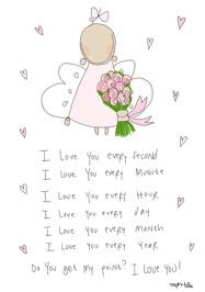 I Love You Dikt Rosa