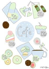 Café motiv Blå