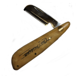 Trimkniv (hopfällbar) med träskaft. 3.(Medium)