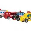 B Träbilar - Alla fyra bilarn