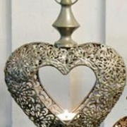 Hängande hjärta med kedja19x21 cm
