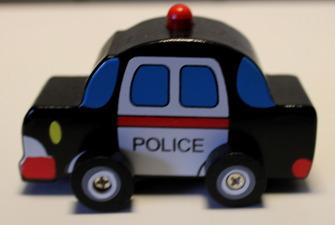 B Träbilar - Polis