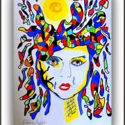 Kvinna i solfärger