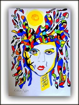 Kvinna i solfärger - Kvinna i solfärger